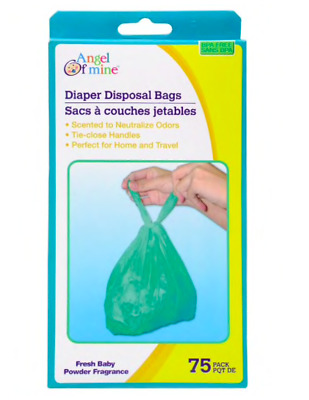 BABY DIAPER DISPOSABLE BAGS 75-ct. each. PACK, Pick your Quantity FREE SHIPPING!