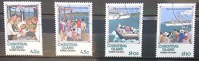 Christmas Island 1992 War-Time Evacuation Set Cto/gummed