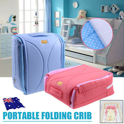 Portable Baby Bed Nursery Sleeping Bag Bassinet Infant Travel Foldable Crib Cot