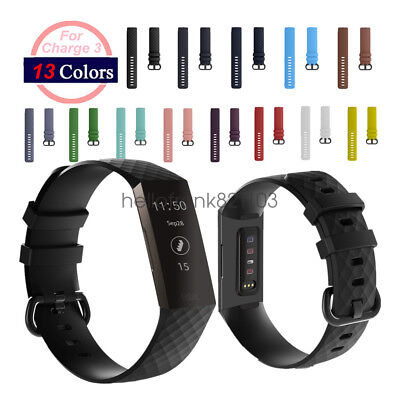 Replacement Bracelet For Fitbit Charge 3 Silicone Sports Wrist Watch Band Strap