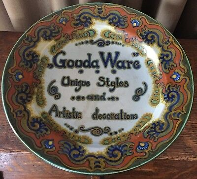 """""""Gouda Ware Unique Styles and Artistic Decorations"""" - Gouda Holland Platter"""