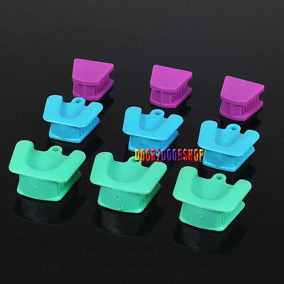 9pcs DENTAL SILICONE MOUTH PROP LATEX Free Autoclavable Retractor