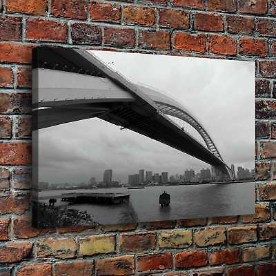 "12""x18""Great Bridge HD Canvas prints Painting Home Decor Picture Wall art Poster"