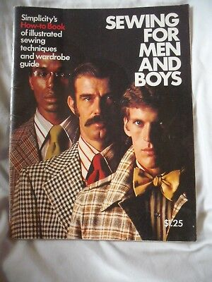 Vintage Simplicity's Sewing for Men and Boys Sewing Guide 1973