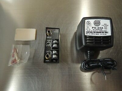 Radio Design Labs (RDL) TX-1W Music on Hold Amplifier - with PS-24A Power Supply