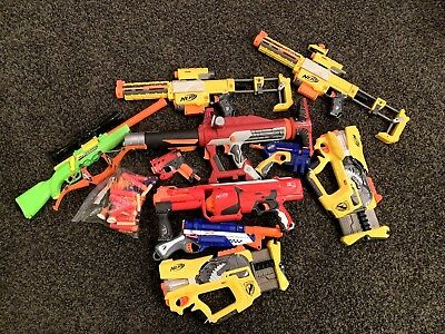 Nerf Gun Lot 10 Piece + Ammo