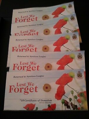 2012 $2 Remembrance Day Red Poppy on RSL card