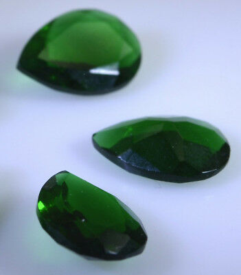 knockout Emarald Cubic Zirconia Faceted Pear 12X16 mm 1-PC Gemstones US