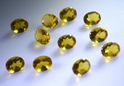 enticing Citrine Cubic Zirconia Faceted Oval 6x8 mm 1-PC Gemstones US