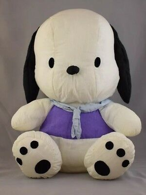 "Hello Kitty Plush Dog Sanrio Smiles 1997 10"" Pochacco White Puppy Sailor Sitting"