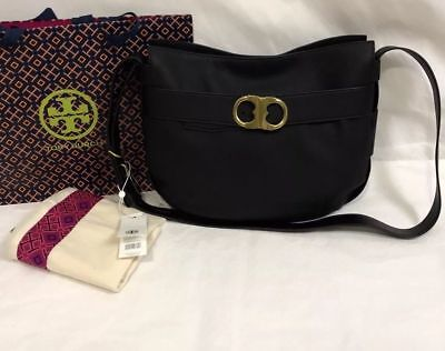 NWT Tory Burch Gemini Link Belted Crossbody Shoulder Bag,  New logo, Black Color