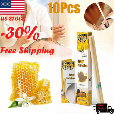 100% Natural Beeswax Candling Cones for Ear Candling Homeopathic Aromatherapy