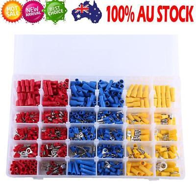 720X Electrical Wire Connector Assorted Insulated Crimp Terminal Spade Kit HOT