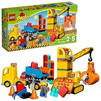 LEGO DUPLO Town Big Construction Site 10813 Best Toy for Toddlers,Building Block