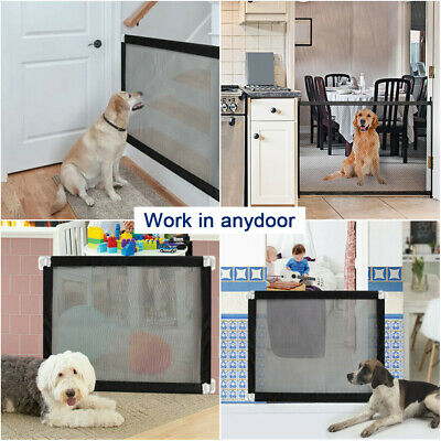 Portable Woven Mesh Pet Dog Gate Puppy Safety Enclosure for House Indoor PS254