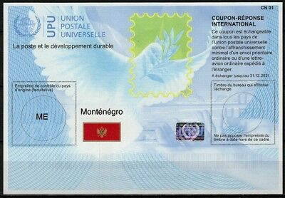 MONTENEGRO Is41  20180215 AA Int. Reply Coupon Reponse Antwortschein IRC IAS **