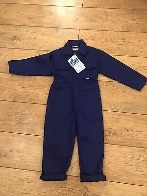 Vintage Kids Workwear Navy Boiler Suit