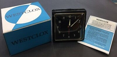 Vintage Westclox Alarm Clock, Mechanical, Made In Scotland, Old Stock Brand New