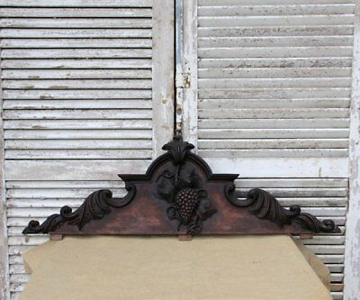 Antique Wooden Decorative Pediment Mount, Architectural Salvage French Hardware