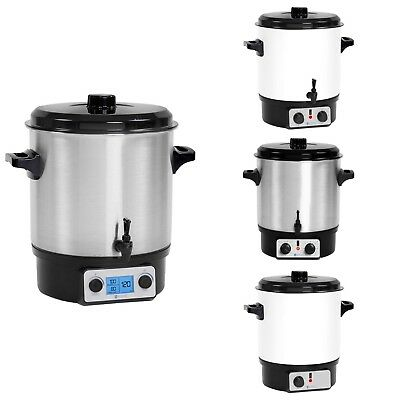 Mulled Wine Warmers Food Warming Pots Beverage Warmers Jam Makers with Tap - 27L