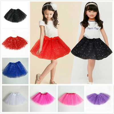 Ballet Tutu Princess Dress Up Dance Wear Costume Party Girls Toddler Kid Skirt N