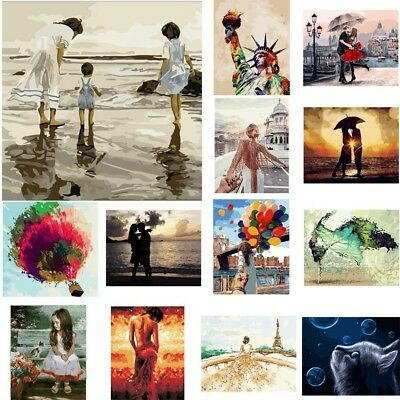 DIY Animals Paint By Number Kit Digital Oil Painting Canvas No Framed 40*50cm AU