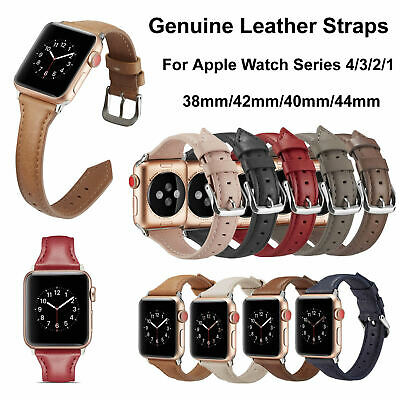 New Genuine Leather Protective Watch Band For Apple Watch 4 3 2 1 38/42/40/44mm