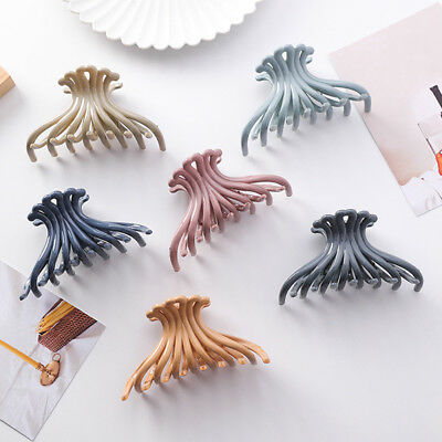 Ladies Large Hair Claw Clamp Small Hair Clip Ponytail Claws Clamps Accessories S