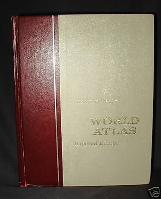 RAND McNALLY WORLD ATLAS, Imperial Edition, VINTAGE 1968, illustrated