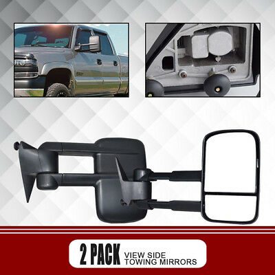 Left+Right Fit 88-98 Chevy C/K 1500/2500/3500 MANUAL Towing Pair of Mirrors