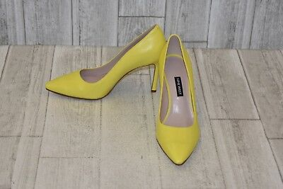NINE WEST EMMALA Pointy Toe Pumps - Women s Size 7.5 M - Yellow ...