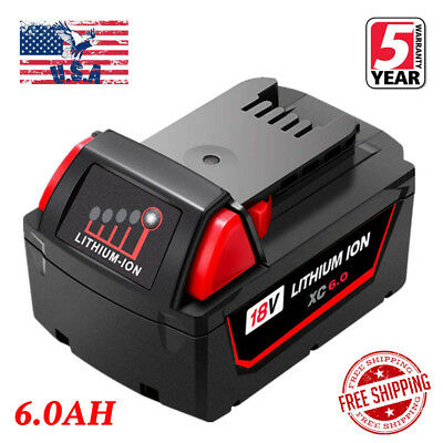 For Milwaukee M18 48-11-1860 48-11-1850 Lithium Ion XC 6.0 18V Upgrade Battery