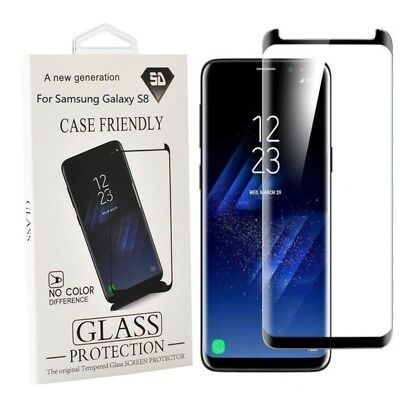 Samsung Galaxy S8 S9 Plus Note 9 8 Case Friendly Tempered Glass Screen Protector