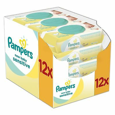 Pampers New Baby Sensitive Wet Wipes, Pack of 12 (12 x 50 pieces) NOW £14.99