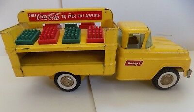 "Vintage Advertising ""Buddy L"" 1959 Coca Cola Delivery Truck with 8 Crates"
