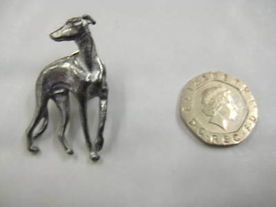 Greyhound/whippet Lurcher Solid Pewter Brooch