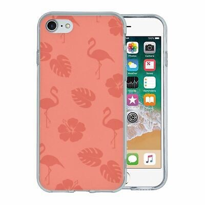 Pour Apple Iphone 7 Étui en Silicone Flamant Rose Tropical Motif - S5639