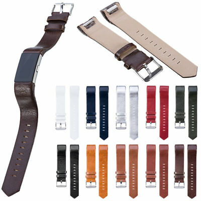 New Replacement Band for Fitbit Charge 2 Genuine Leather Strap Braclet Wristband
