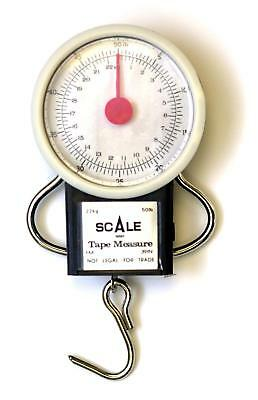 Eagle Claw Scale W/Tape Measure, 50 Lb, Dial  04070-003