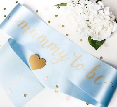 Luxury Mummy to Be Sash for Baby Boy Blue Baby Shower Gift Present Idea New Mum