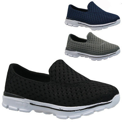 Kids Boys Girls Slip On Walking Running Smart School Pumps Trainers Shoes Size