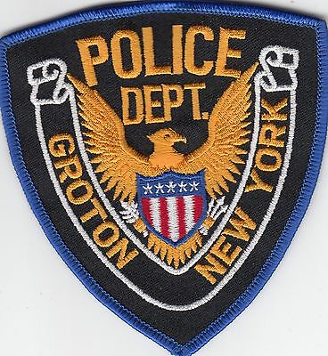 Groton New York Police Shoulder Patch Ny