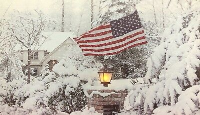 Snow Scene LED Light Up Lighted Canvas Painting Picture Wall Art Home Decor