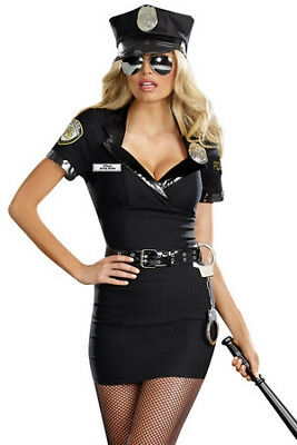 Dirty Lady Cop Costume 8816 Dreamgirl Multi Color