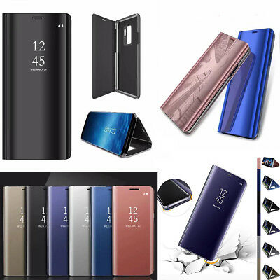 New Fashion Smart View Mirror Leather Flip Stand Case Cover For Samsung Phone