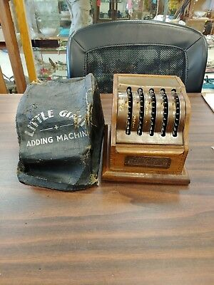 Little Giant Adding Machine Kel-Sun Dayton Ohio W/cover