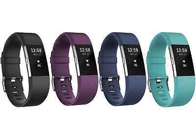 Fitbit Charge 2 Wireless Heart Rate + Fitness Wristband Black Large