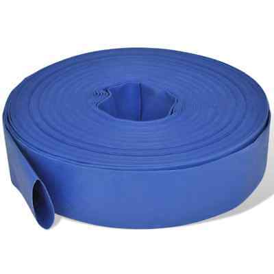 """50 m 2"""" PVC Water Delivery Discharge Lay Flat Hose Pump Reinforced Stand"""