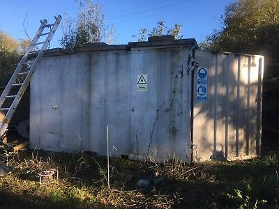 Secure Storage Container 12x6 Fitted With Small Office, Toilet And Sink