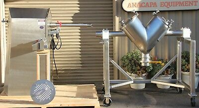 GEMCO V-Cone 3 CuFt  Mixer Adaptable Blending System ABS 1-5 Porta Cart  & Shaft